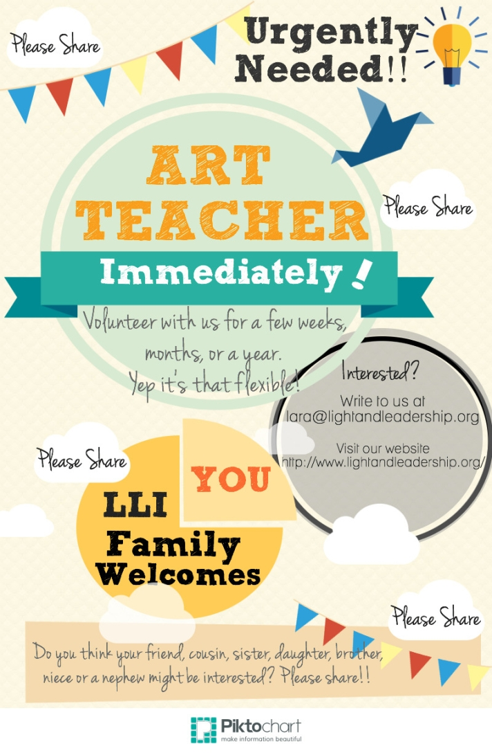 Volunteers needed to teach art classes
