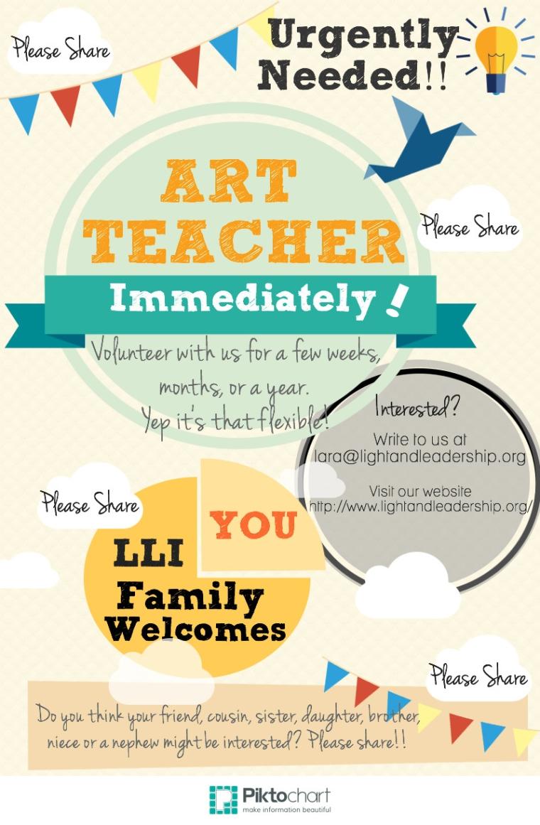 Volunteers needed to teach art classes