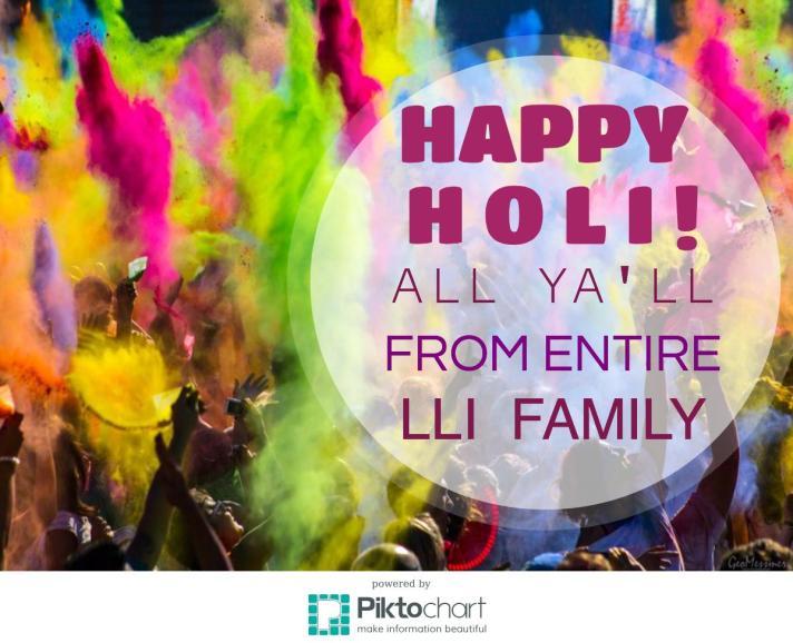 Happy Holi Everyone!