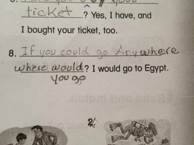 Eduardo's English test