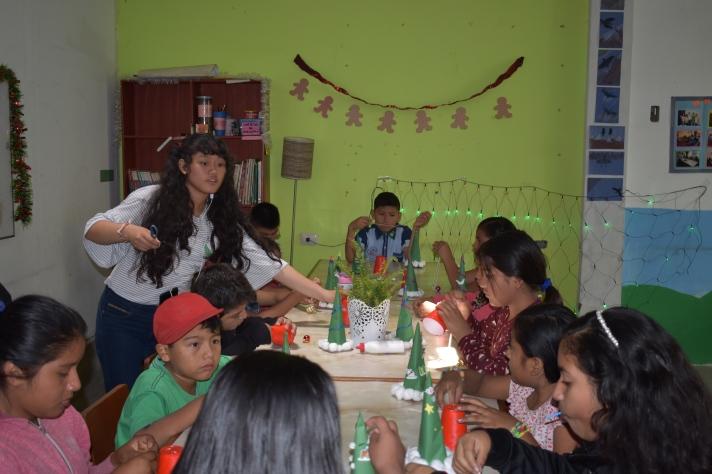 !Angela with kids!